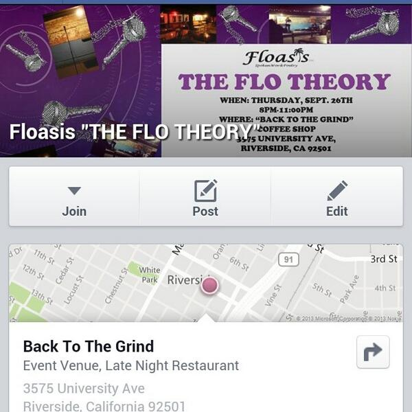 Go RSVP today on our official page, http://www.facebook.com/floasisspokenword …! #Floasis #TheFloTheory #SpokenWord #Poetry #Venue