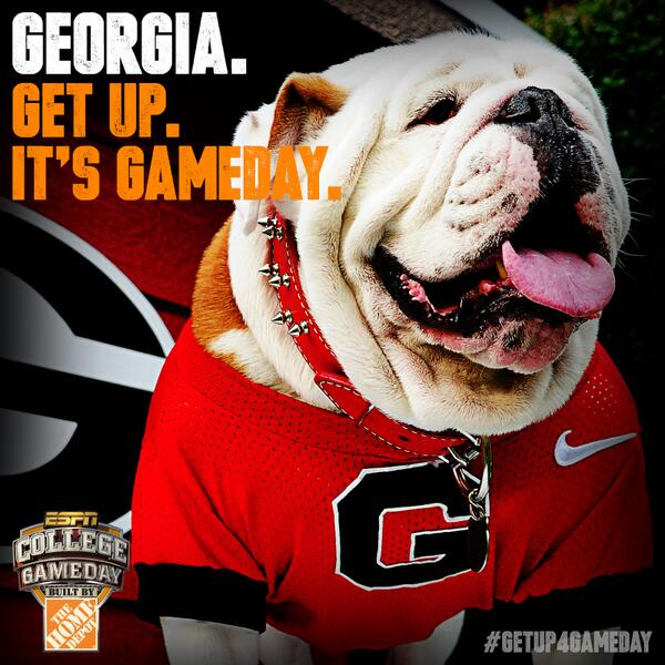 It's official. GameDay is headed between the hedges for #LSUvsUGA! #GetUp4GameDay http://twitter.com/CollegeGameDay/status/381619343009665025/photo/1
