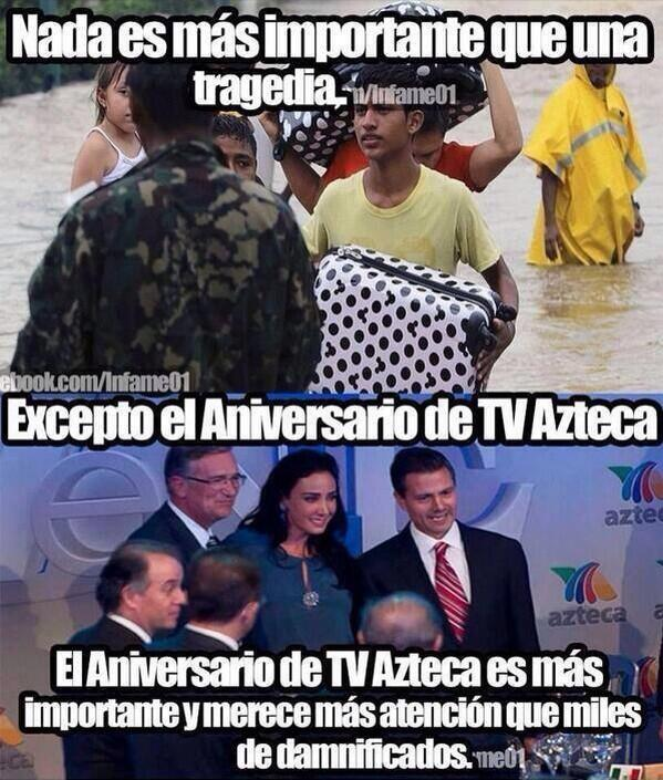 Prioridades de los medios de #Mexico @latinorebels #TVAzteca http://twitter.com/AndreaLeon/status/381626713131597825/photo/1