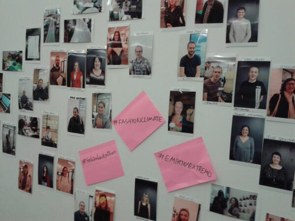 #FASHIONCLIMATE cool wall feat. @cutx1 @ProfHelenStorey @ileddigital and many others #ldf13 http://twitter.com/msaunby/status/381701590253449217/photo/1