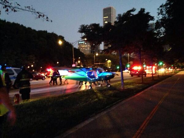 Thumbnail for Pilot Lands Small Plane on Lake Shore Drive