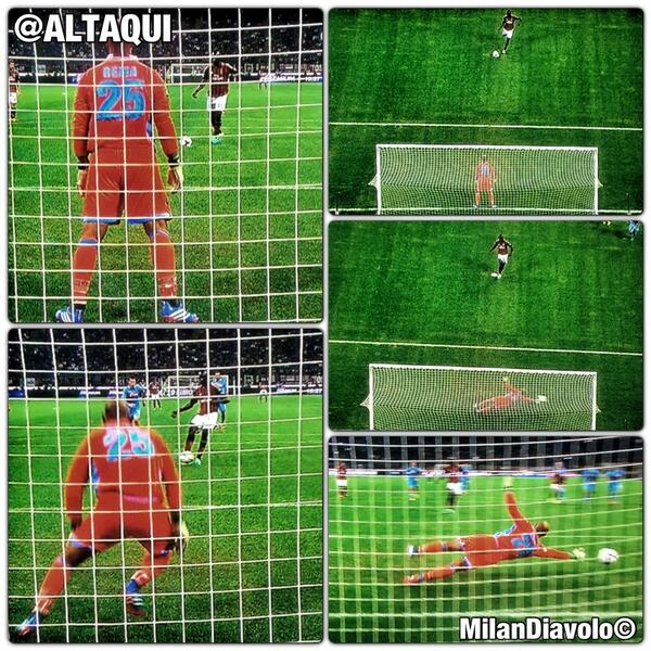 Pictures: Pepe Reina didnt move until Mario Balotelli kicked his saved penalty