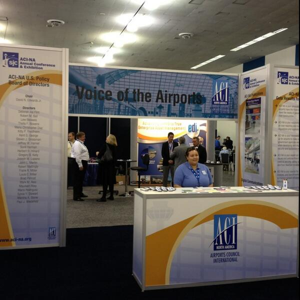 The opening reception at #ACINA13 is underway! Come say hello to @airportscouncil's membership services http://twitter.com/canadasairports/status/381937848531689473/photo/1