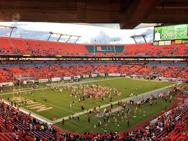 "RT @npmikolich: ""The sun has set in Miami for Ga Tech w/ the @MiamiHurricanes winning 45-30! @USocialSuite #Canes http://twitter.com/npmikolich/status/386624562156560384/photo/1"""