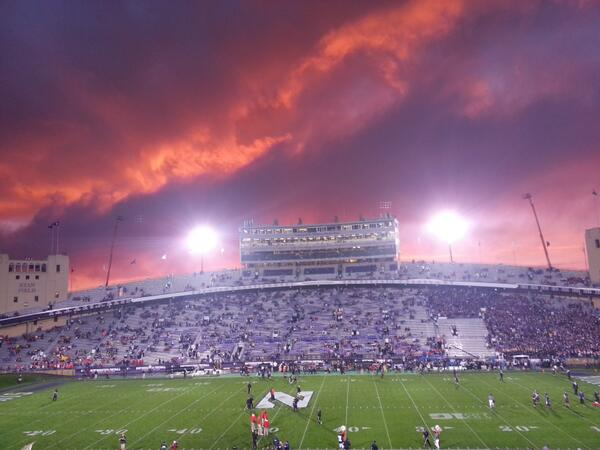 IMPORTANT: This is a stunning photo #B1GCats RT @Vegas724: @NU_SportsLIVE @NUFBFamily @NU_Sports The sky is clearing! http://twitter.com/Vegas724/status/386632951557292032/photo/1