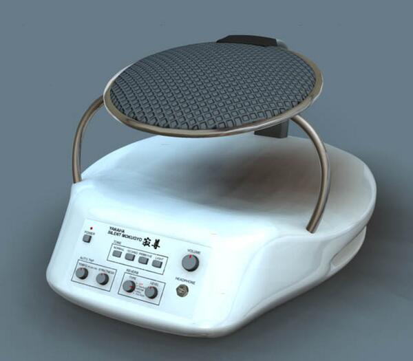 サイレント木魚「寂尊(じゃくそん)」。ヘッドフォンでこっそり練習、アンプにつないで大音響でプレイ。自由自在に楽しめるデジタル木魚。バッテリーフル充電で約8時間連続プレイ可能。(via http://lab108.x0.com/lab108/vp/jackson.html…)