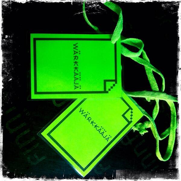 #wärkfest #taskuneuloosi #warkfest wärkkääjien vihreät passit http://twitter.com/PauliinaMakela/status/386848438400585728/photo/1