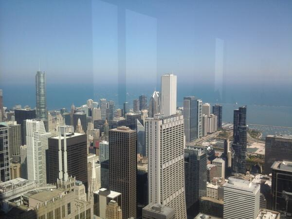 Beautiful view from Willis / Sears Tower 82nd  floor @SMWchicago #smwshare #Chicago http://twitter.com/skychi_travels/status/382942452035747841/photo/1