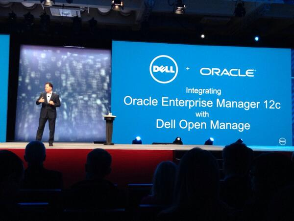 Announce of a merge of dell & oracle management tool for less complexity #OOW13 #dell #keynote http://twitter.com/disk_91/status/382892839031435265/photo/1