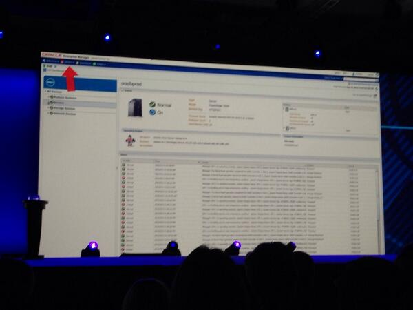 dell management suite integrated to EM12c #OOW13 #dell #keynote http://twitter.com/disk_91/status/382893207559741440/photo/1