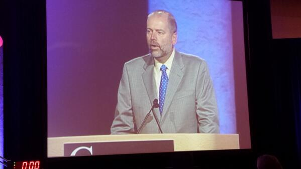 He looks pretty good on the big screen! Go @msquared279; represent @KansasAFP & #FMRevolution well. #AAFPCoD http://twitter.com/mrsbrull/status/382910310069190656/photo/1