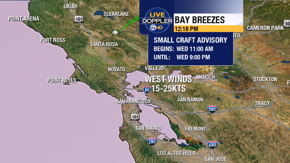 Forecasting faster #BayArea winds this afternoon, Small Craft Advisory. #americascup http://twitter.com/MikeNiccoABC7/status/382947200117903361/photo/1