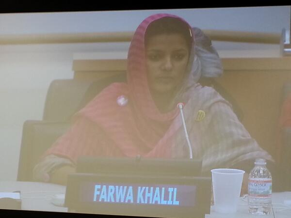 Farwa Khalil is speaking at #too young to wed at #UNGA @planuk @PlanPakistan her personal experience #ChildMarriage http://twitter.com/nazmak/status/382954189652897792/photo/1