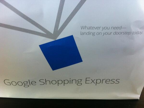 Google Shopping Express bag! http://twitter.com/cfarivar/status/382975589163859968/photo/1