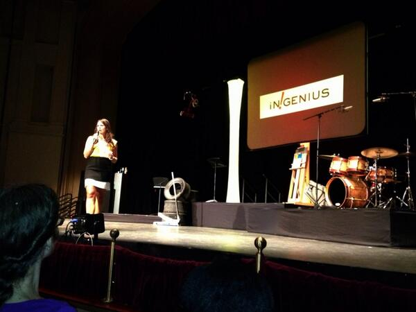 @angela_mallen kicking off CofC's #inGenius as emcee at the Sottile Theatre #ProudFriendTweet http://twitter.com/CougSID/status/382984342630199297/photo/1