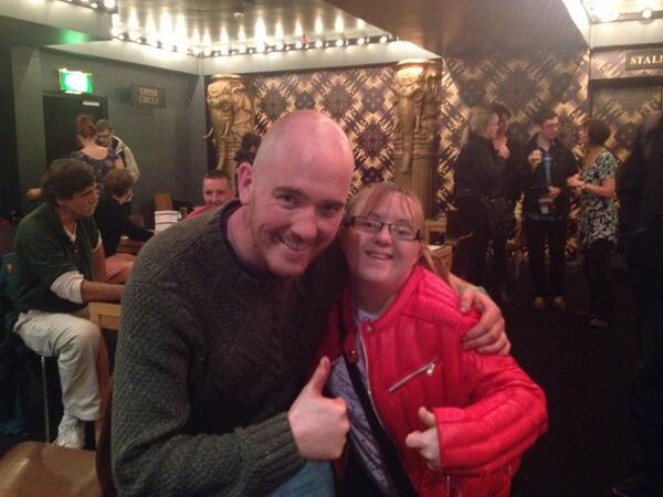 @citizenstheatre Crime and Punishment was amazing wld like to thank Adam Best for photo with sister-she was thrilledx http://twitter.com/TheeBettyBoo/status/383028086708523008/photo/1