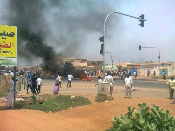 Shafa Street, Khartoum, #Sudan #SudanRevolts http://twitter.com/Namaa0009/status/383209763732877312/photo/1