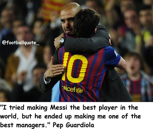 RT @FootballQuote_ Pep Guardiola On Lionel Messipic.twitter.com/T3S9fvrltK