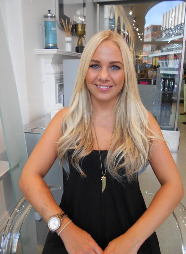 moda greco on rapture hair extensions pic taken at