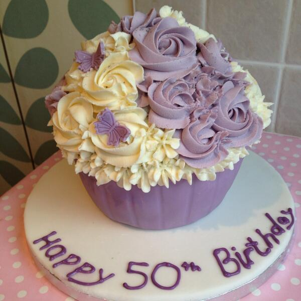 English Rose Cupcake On Twitter Giant Cupcake For A Th - Birthday cakes solihull