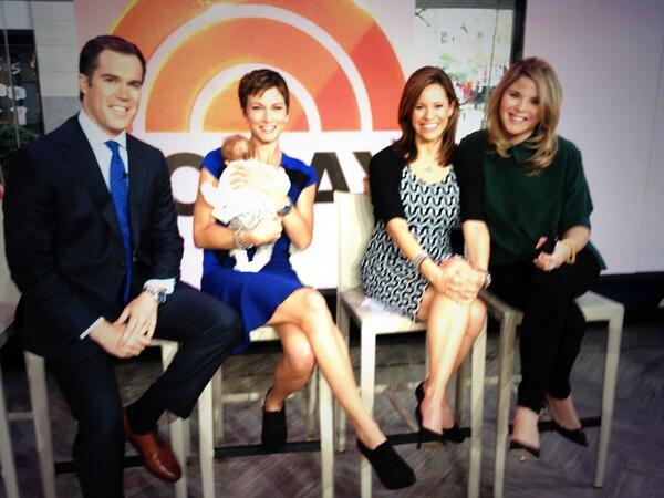Jenna Wolfe On Twitter Hanging W New Moms And Dad On Todayshow