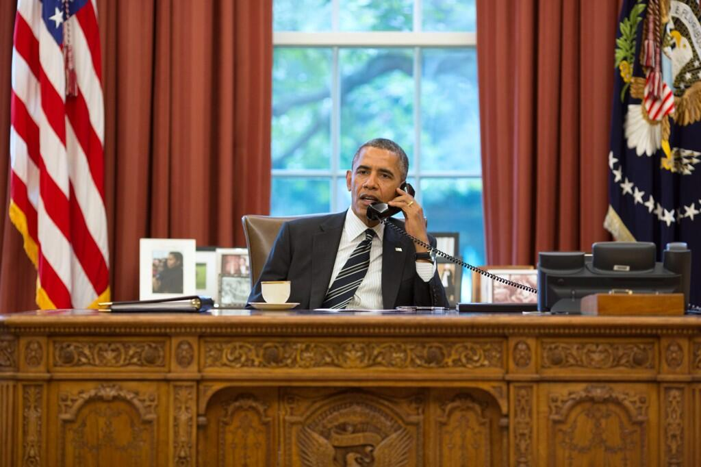 Twitter / petesouza: Historic phone call in the ...