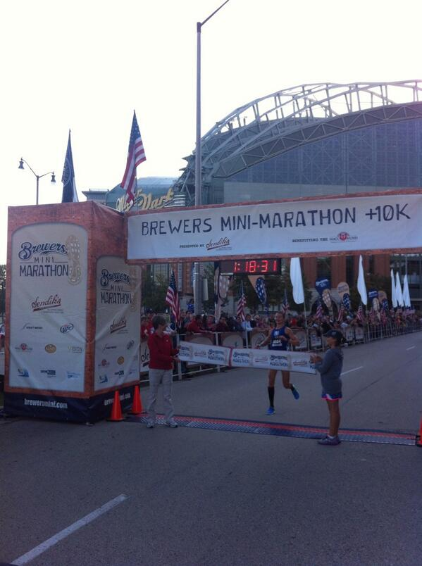 Congrats to Dani Fischer, top female #BrewersMini finisher---again! http://twitter.com/Brewers/status/383947644935999488/photo/1