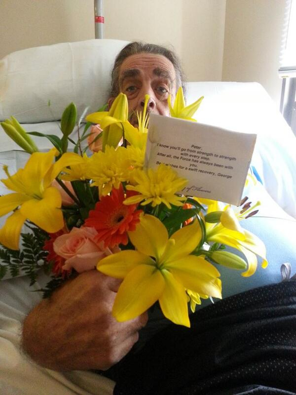 Flowers from George Lucas would make anybodies day better http://twitter.com/TheWookieeRoars/status/384061648773734401/photo/1