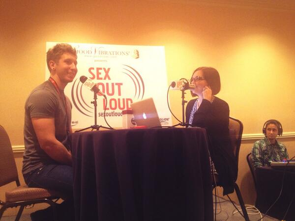 So much fun to be in the studio audience for the @SexOutLoudRadio interview with @dannywylde. #ccon #sexoutloud http://twitter.com/CharlieNox/status/384069415945240576/photo/1