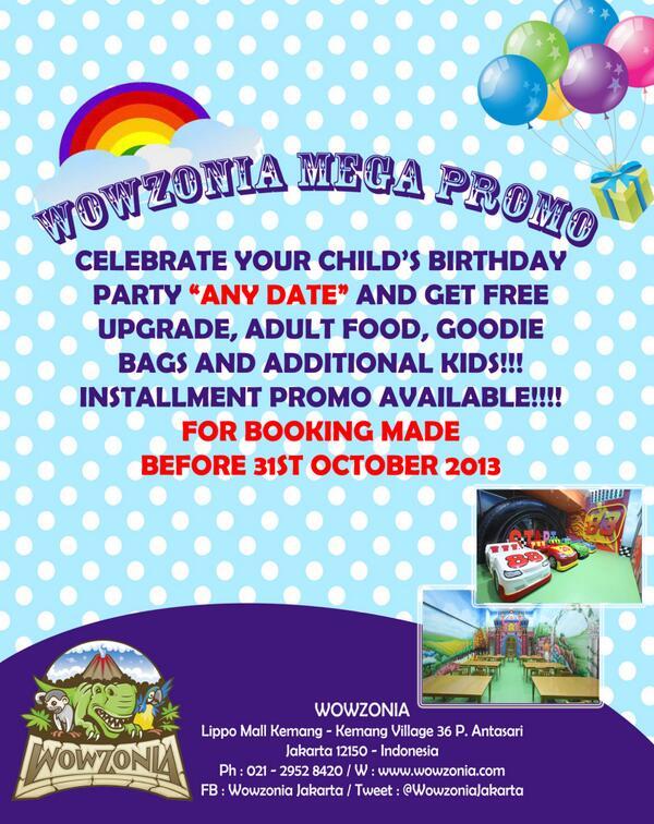 Wowzonia jakarta on twitter wowzonia mega promo birthday party wowzonia jakarta on twitter wowzonia mega promo birthday party till 31st oct 2013 httptpre9hqggsp stopboris Gallery