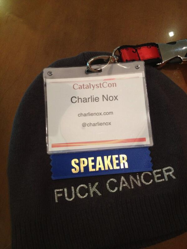 No but seriously. #cconcancer #fuckcancer http://twitter.com/CharlieNox/status/384386378613522434/photo/1