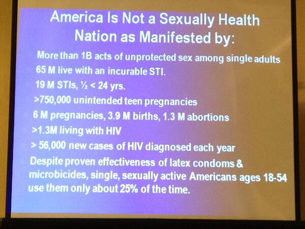 US stats on sexual health. Shows the incredible need for Sex Ed and the lack of sexual health. #ccon http://twitter.com/goodforher/status/384447039460745216/photo/1