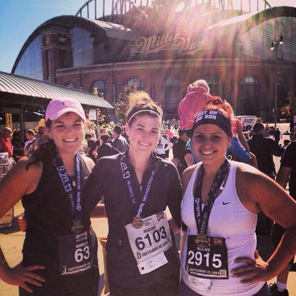 Another 13.1 in the books! #brewersmini #runbrag http://twitter.com/HeatherNerat/status/384494408030494720/photo/1