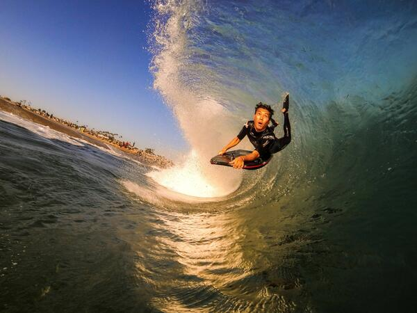 GoPro Photo Of The Day Brad Catches Some Air During A Sunset Bodyboard Sesh By Kyle Redington Surfpictwitter Eo8jTey9Fo