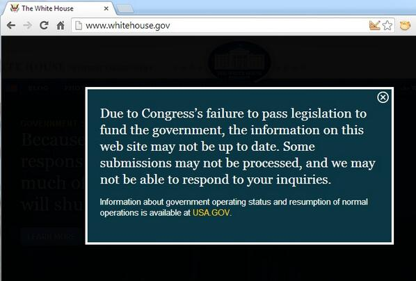 New message greeting visitors to White House website: http://twitter.com/ABC/status/385045854056239105/photo/1