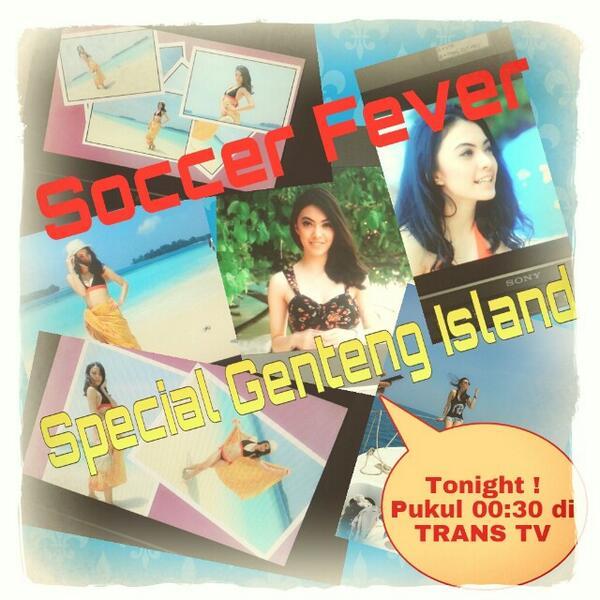 Jangan lupa saksikan SOCCER FEVER malam ini @TRANSTV_CORP . Salam transoccer :) @ http://t.co/MNXlZU7SHA