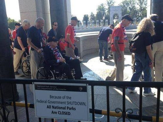 Veterans Break The Barricades; Enter Memorial