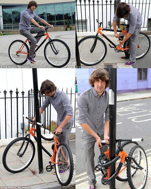 自転車そのものがカギ