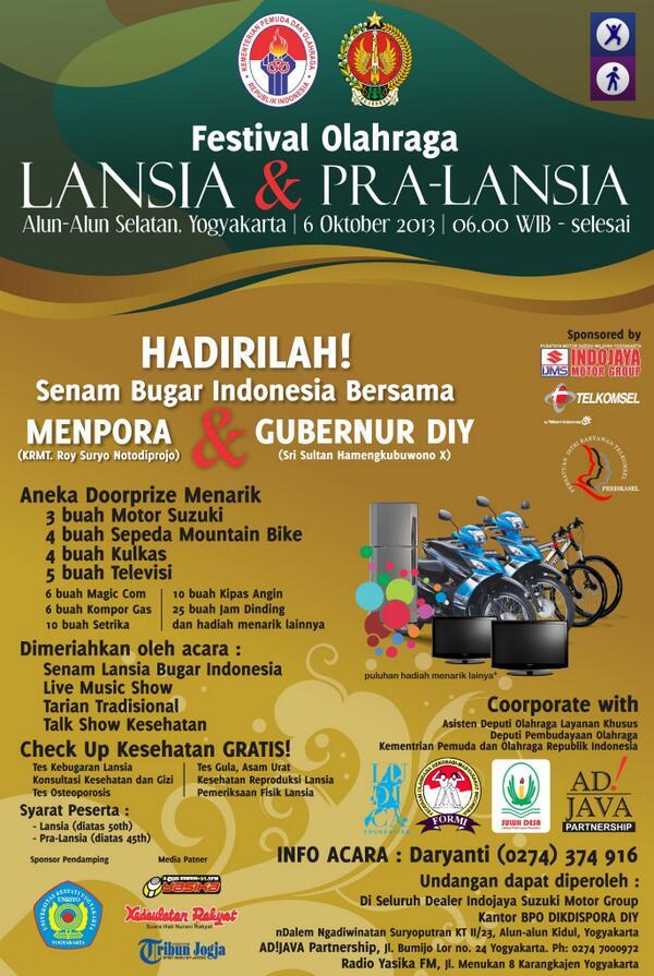 Festival Olahraga Lansia dan Pra-Lansia