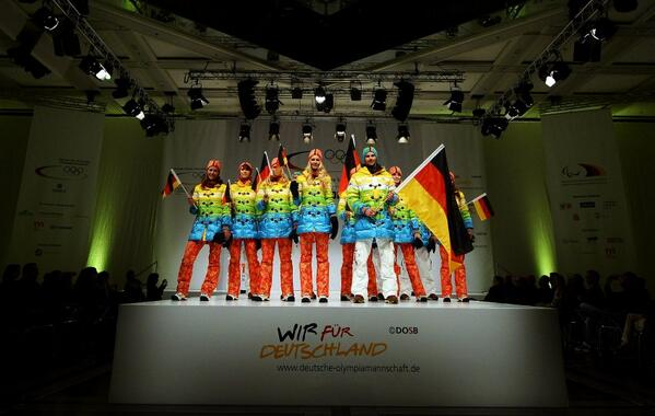 Germany, you beautiful bastards. RT @stevewilsonap: Germany's Olympic outfits for Sochi. http://t.co/0hLertpRmW