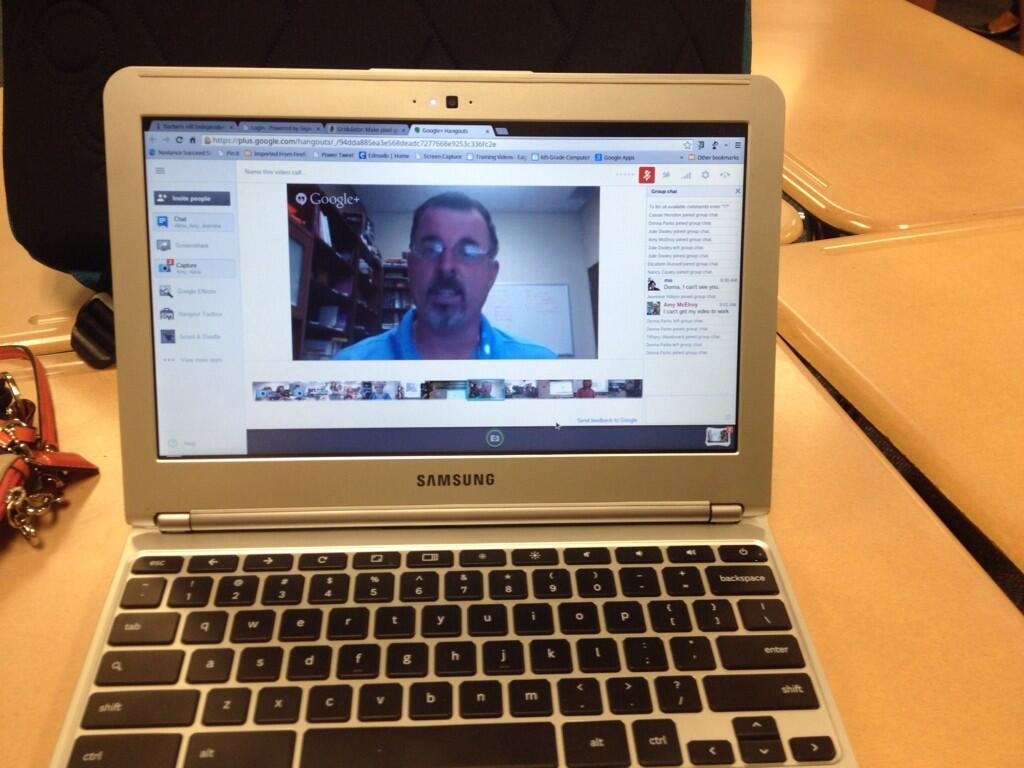 Twitter / abrooks: Google hangouts with 5th graders! ...