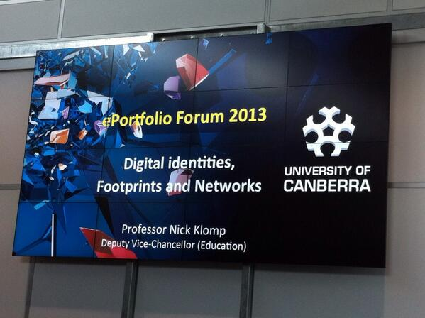This year's #eportforum is at @UniCanberra's Inspire Centre. Theme: Digital identities, footprints, and networks http://twitter.com/ashetler/status/385542381862277121/photo/1