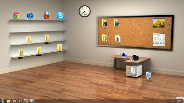 デスクトップをきれいに整理できる壁紙