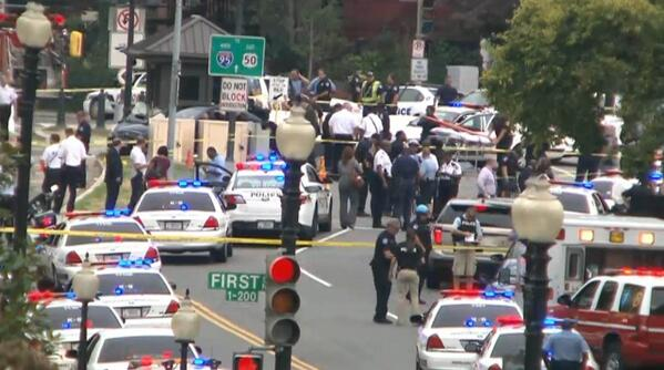 Photo of the scene near the U.S. Capitol, after reports of gunshots: http://twitter.com/USATODAY/status/385837309360603136/photo/1