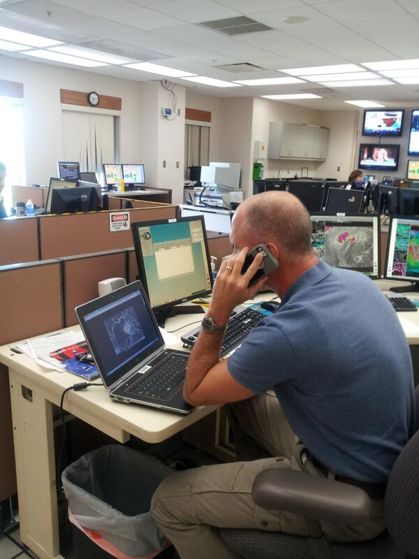 weather service official on phone
