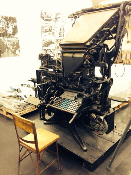 Linotype @bostonglobe http://twitter.com/stevegarfield/status/386135788179554304/photo/1