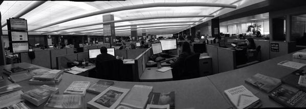 Newsroom @bostonglobe http://twitter.com/stevegarfield/status/386152329537269760/photo/1