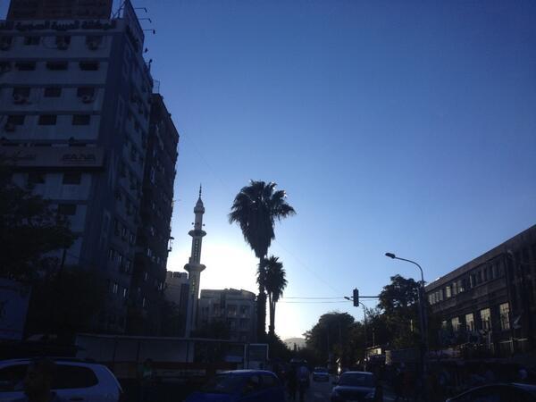 Downtown, twilight. Damascus, Syria. http://twitter.com/ABarnardNYT/status/386214299816837121/photo/1