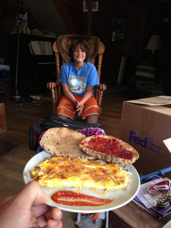Atz lee kilcher on twitter quot son made me breakfast today what a kid