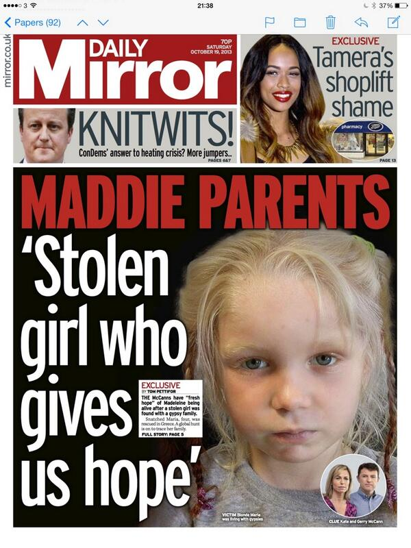 """""""Is this some other parents poor Maddie?"""" What is going on?! BW4vg_uIMAAxlj4"""